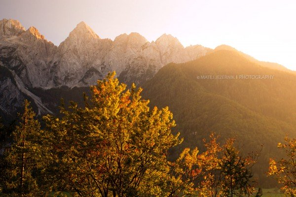 Trees in the upper Sava valley are slowly starting to turn red. Autumn is slowly progressing in