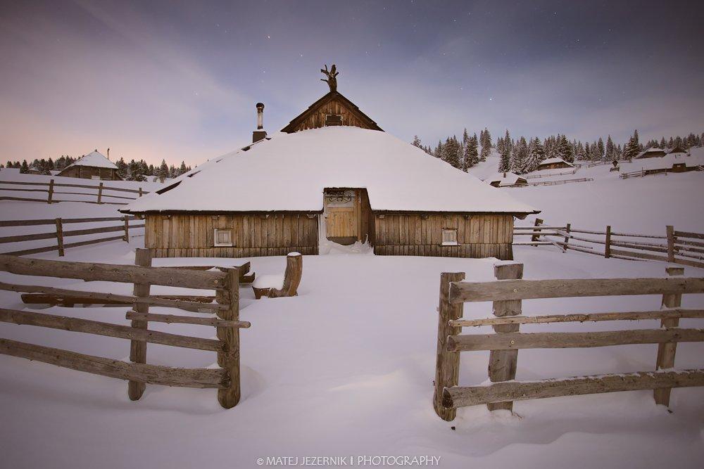 Shepherd cottages on velika planina.